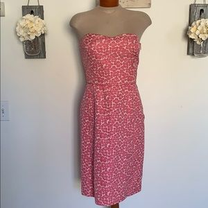 LOFT Floral Strapless Dress